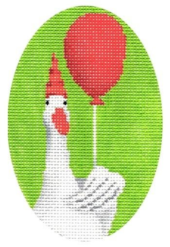 Goose with Balloon Painted Canvas Scott Church Creative