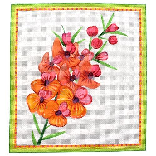 Gorse Bitter Pea Painted Canvas Kate Dickerson Needlepoint Collections
