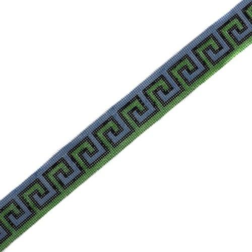 Grecian Geometric Belt Painted Canvas The Meredith Collection