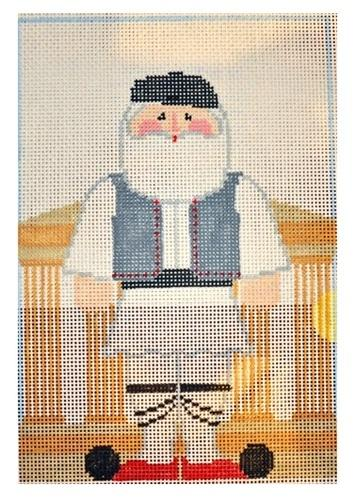 Greek Santa Painted Canvas Kathy Schenkel Designs