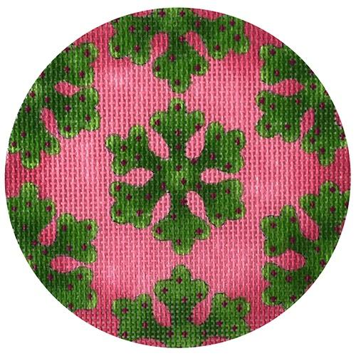 Greenery Snowflakes Ornament Painted Canvas Melissa Shirley Designs