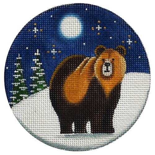 Grizzly Bear Painted Canvas Rebecca Wood Designs