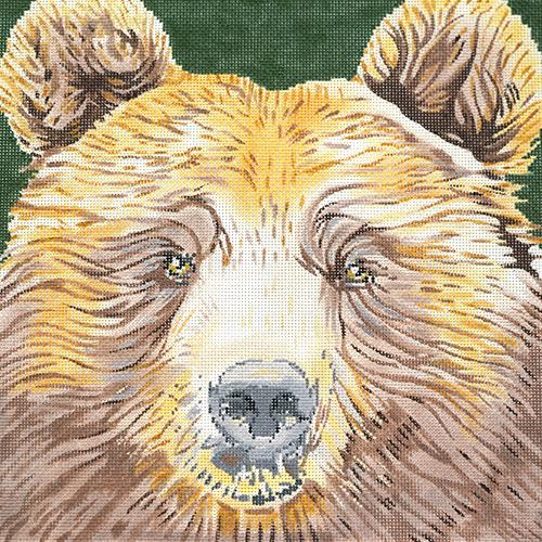 Grizzly Bear Painted Canvas The Meredith Collection
