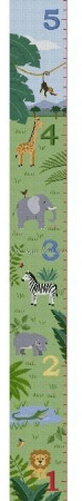 Growth Chart, Animal Savannah Painted Canvas Susan Roberts Needlepoint Designs, Inc.