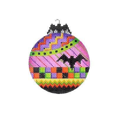 Halloween Bat Bauble - Bat Painted Canvas Burnett & Bradley