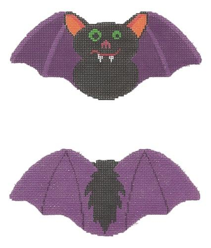 Halloween Bat Painted Canvas Labors of Love Needlepoint