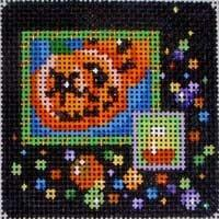 Halloween Confetti Square / Pumpkins Painted Canvas Associated Talents