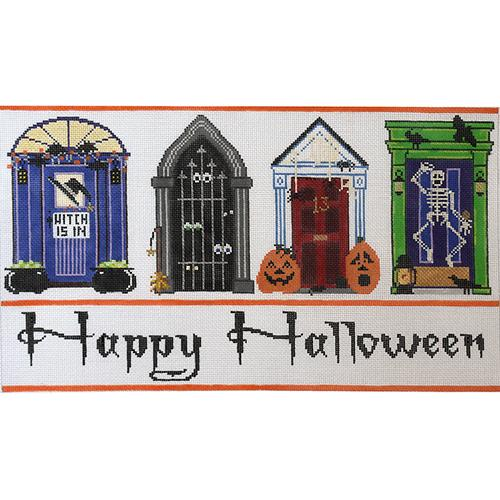Halloween Doors Painted Canvas The Meredith Collection