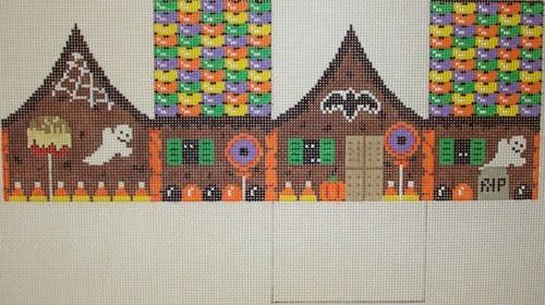 Halloween Gingerbread Painted Canvas Susan Roberts Needlepoint Designs, Inc.