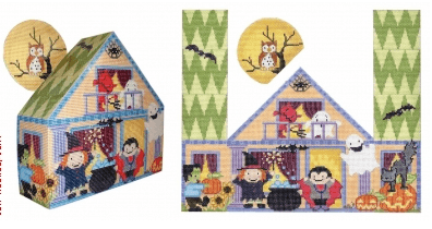 Halloween Party Painted Canvas CBK Needlepoint Collections