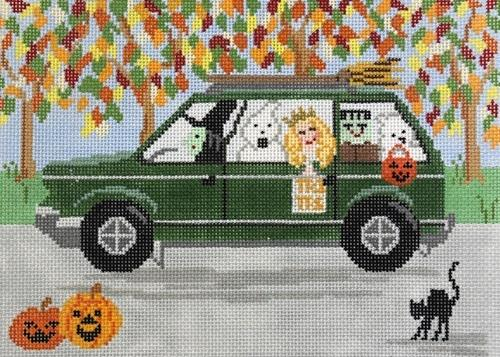 Halloween SUV Painted Canvas All About Stitching/The Collection Design