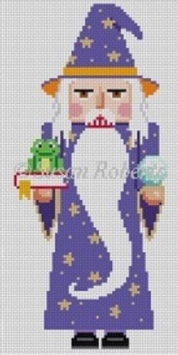 Halloween Warlock Nutcracker Painted Canvas Susan Roberts Needlepoint Designs, Inc.