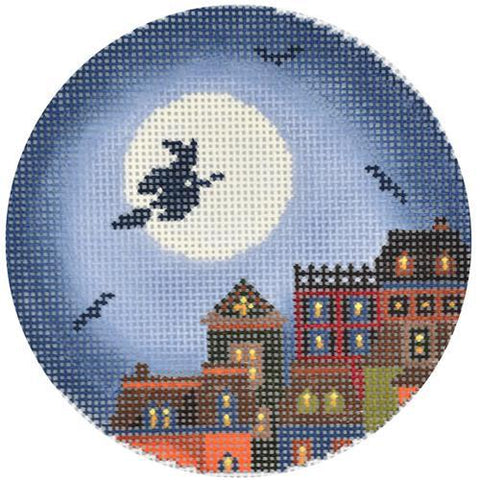 Hallows Eve Town Ornament Painted Canvas Abigail Cecile