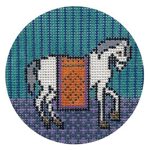 Hanne the Horse on 13 mesh Painted Canvas Thorn Alexander