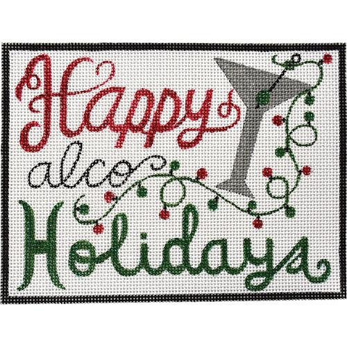 Happy Alco-Holidays Painted Canvas Alice Peterson Company