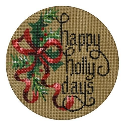 Happy Holly Days Painted Canvas Danji Designs