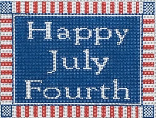 Happy July Fourth Painted Canvas CBK Needlepoint Collections