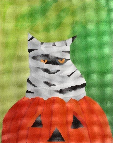 Happy Purrrfect Halloween Painted Canvas Scott Church Creative