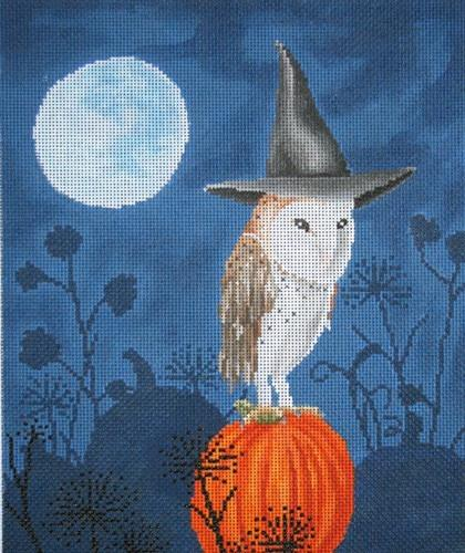 Hatted Barn Owl Painted Canvas Scott Church Creative