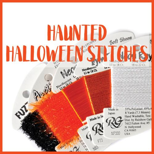 Haunted Halloween Stitches Online Needlepoint Class Online Course Needlepoint.Com