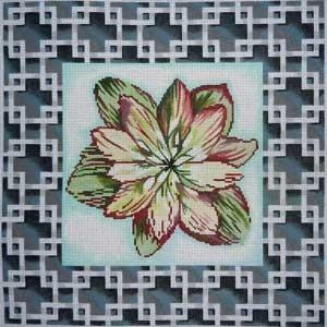 Hellebore #2 Border Painted Canvas Associated Talents