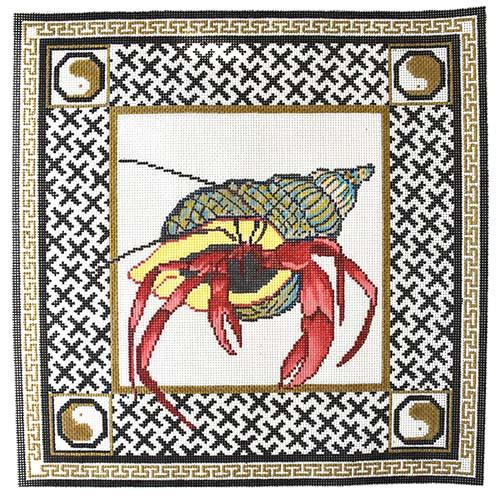 Hermit Crab Painted Canvas The Point of It All Designs