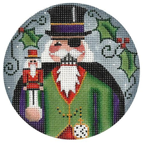 Herr Drosselmeyer Ornament Painted Canvas Rebecca Wood Designs