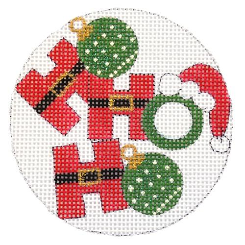 Ho Ho Ho Ornaments on 13 Painted Canvas Alice Peterson Company