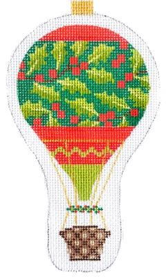 Holiday Balloon - Holly Painted Canvas Kirk & Bradley
