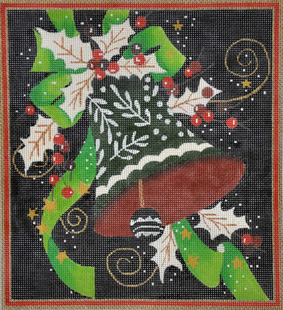 Holiday Bell Painted Canvas Raymond Crawford Designs