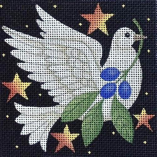 Holiday Dove Painted Canvas Maggie Co.