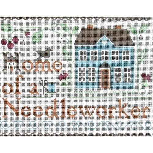 Home of a Needleworker Painted Canvas Ewe & Eye
