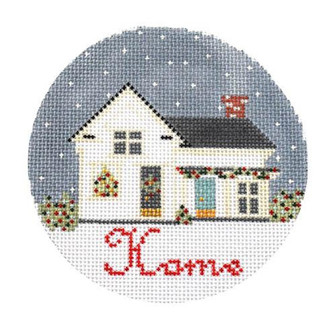 Home Ornament Painted Canvas The Plum Stitchery