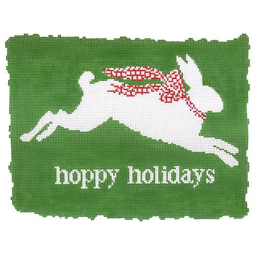 Hoppy Holidays Painted Canvas The Plum Stitchery