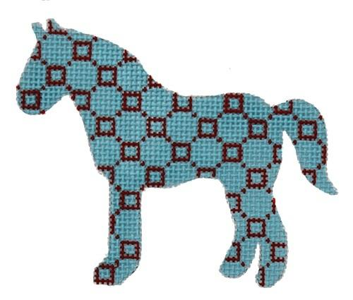 Horse Painted Canvas Stitch-Its