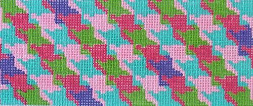 Houndstooth - Bright Multi Painted Canvas Kate Dickerson Needlepoint Collections