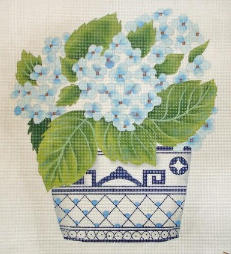 Hydrangea in Willowwave Painted Canvas Susan Roberts Needlepoint Designs, Inc.