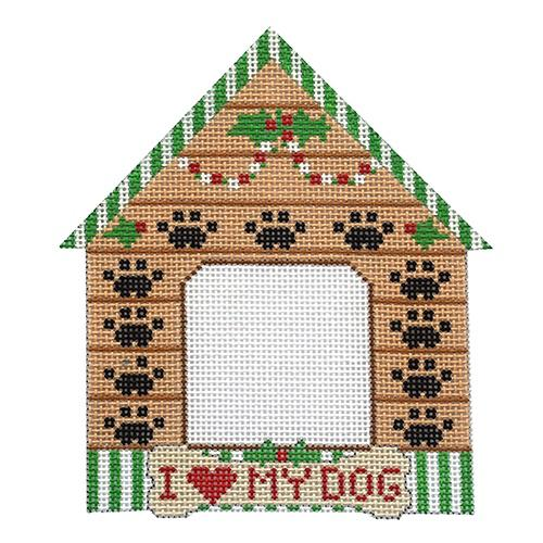 I Love My Dog House Frame Painted Canvas Danji Designs