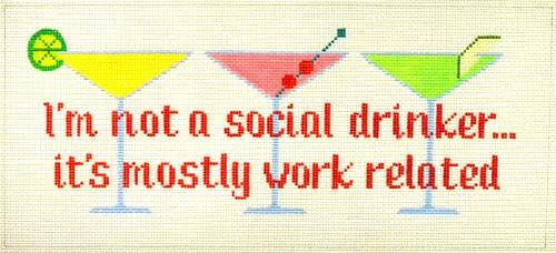 I'm not a social drinker Painted Canvas The Meredith Collection