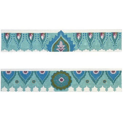 Indian Style Pattern Purse Borders Painted Canvas Colors of Praise