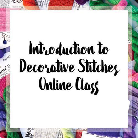 Introduction to Decorative Stitches Online Class Online Classes Needlepoint.Com