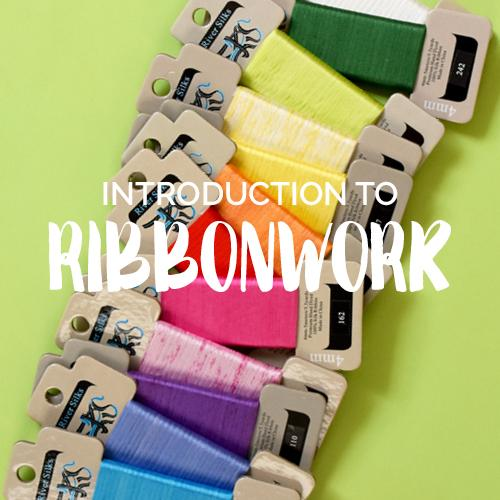 Introduction to Ribbonwork Online Class Online Course Needlepoint.Com