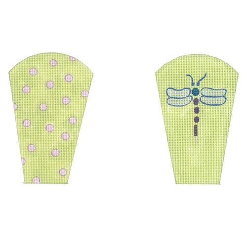 Iridescent Dragonflies Scissors Case Painted Canvas The Meredith Collection