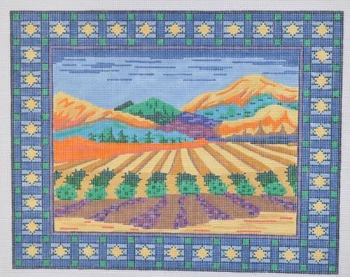 Israeli Landscape tallis Painted Canvas Susan Roberts Needlepoint Designs, Inc.