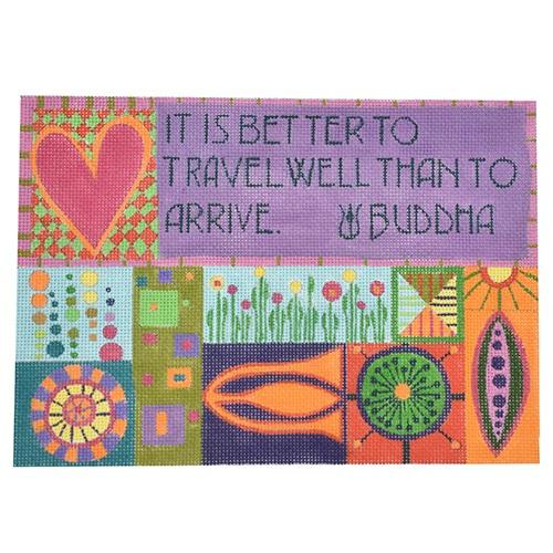 It is Better to Travel Well Painted Canvas Zecca