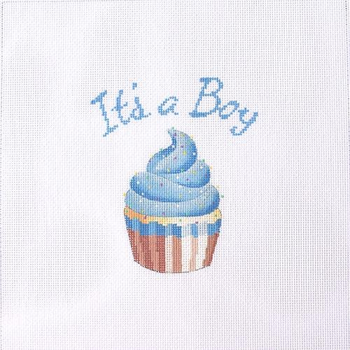 It's a Boy Cupcake Stand-Up Painted Canvas Kirk & Bradley