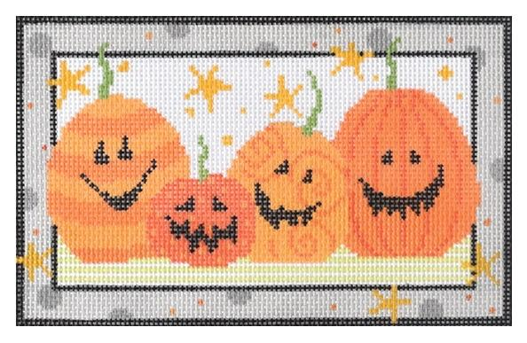 Jack O Lanterns Painted Canvas Pippin