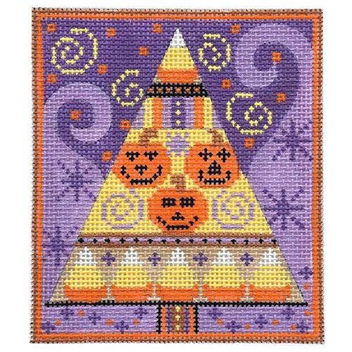 Jack O'Lantern Tree Painted Canvas Danji Designs