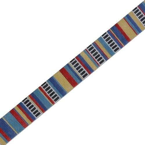 Jean's Stripe Belt Painted Canvas The Meredith Collection
