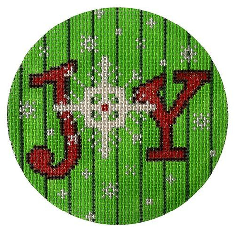 Joy and Snowflake on 13 mesh Painted Canvas The Meredith Collection